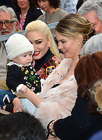 Behati Prinsloo &amp; Dusty Rose Levine &amp; Gwen Stafani at the Hollywood Walk of Fame Star Ceremony honoring singer Adam Levine. Los Angeles, USA 10 February  2017<br /> Picture: Paul Smith/Featureflash/SilverHub 0208 004 5359 sales@silverhubmedia.com