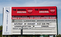 The pre season friendly match between London Scottish & Chinnor at Richmond Athletic Ground, Richmond, United Kingdom on 24 August 2019. Photo by Andrew Aleksiejczuk / PRiME Media Images.