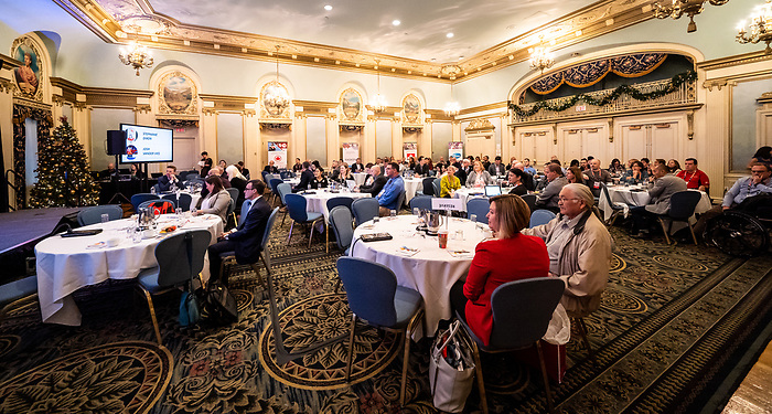 during the  CPC Paralympic Summit 2018 at the Palliser Hotel in Calgary, Alberta on November 15, 2018.
