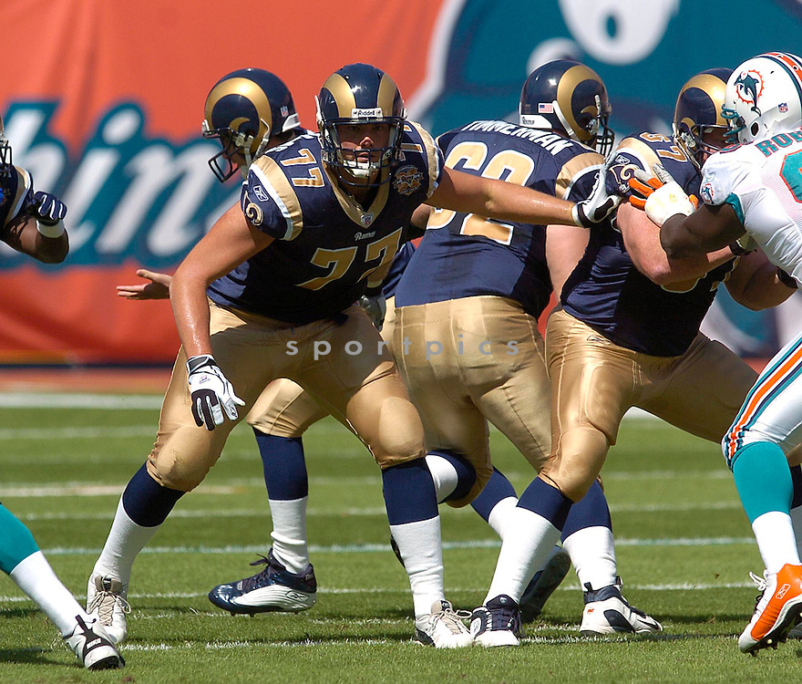 Grant Williams during the St. Louis Rams v. Mimi Dolphins game on October 24, 2004...Dolphins win 31-14..Chris Bernacchi / SportPics
