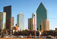 Dallas:   Dallas Skyline 1996. Interstate Bank Bldg. to right.