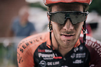 Daan Soete's post-race face<br /> <br /> 3rd Dwars Door Het hageland 2018 (BEL)<br /> 1 day race:  Aarschot > Diest: 198km