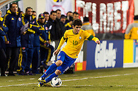 Oscar (10) of Brazil. Brazil (BRA) and Colombia (COL) played to a 1-1 tie during international friendly at MetLife Stadium in East Rutherford, NJ, on November 14, 2012.