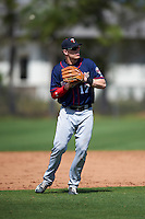 Minnesota Twins Travis Blankenhorn (17) during a minor league Spring Training intrasquad game on March 15, 2016 at CenturyLink Sports Complex in Fort Myers, Florida.  (Mike Janes/Four Seam Images)