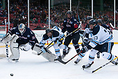 Adam Huska (UConn - 30), Mitchell Fossier (Maine - 11), David Drake (UConn - 5), Max Kalter (UConn - 18), Chase Pearson (Maine - 12), Nolan Vesey (Maine - 13) - The University of Maine Black Bears defeated the University of Connecticut Huskies 4-0 at Fenway Park on Saturday, January 14, 2017, in Boston, Massachusetts.