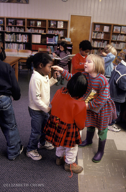 Berkeley CA 3rd grade student harrassing another student in school MRlibrary MR