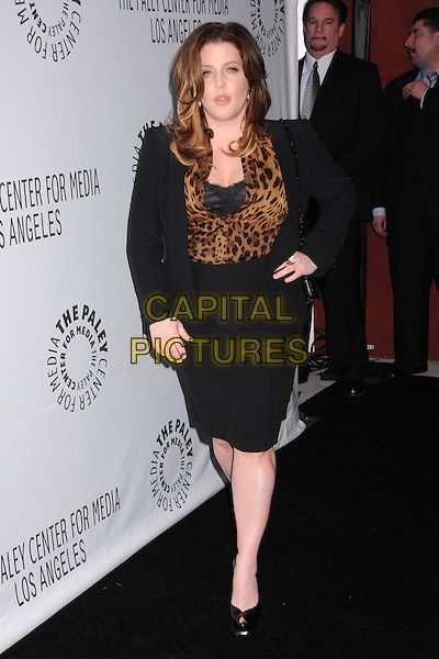 LISA MARIE PRESLEY.25th Annual Paley TV Festival - Elvis 68 Comeback Special at Arclight Cinemas,  Hollywood, California, USA, .14 March 2008.full length leopard print shirt blouse black suit jacket skirt pregnant.CAP/ADM/BP.©Byron Purvis/Admedia/Capital PIctures