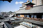 Photo shows the inner quarters of Dogo Onsen, thought to be Japan's oldest spa in Matsuyama City, Ehime Prefecture, Japan on 20 Feb. 2013.  Photographer: Robert Gilhooly