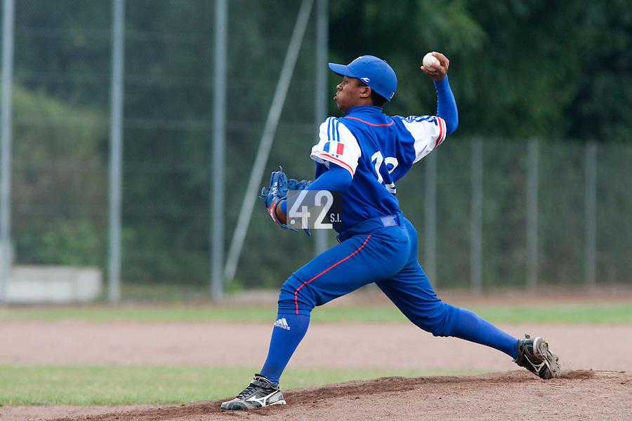 Baseball - 2009 European Championship Juniors (under 18 years old) - Bonn (Germany) - 09/08/2009 - Day 7 - Edison Garcia (France)