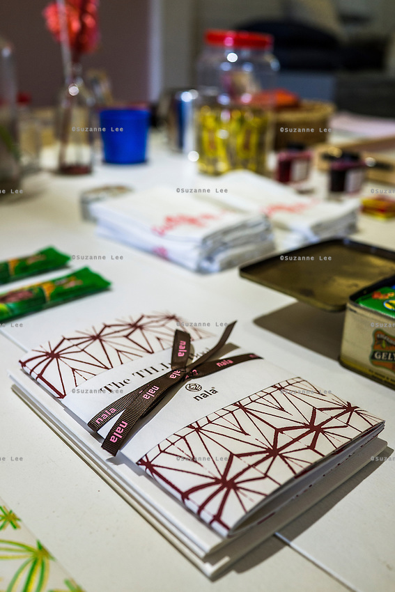 Stationery for sale on display in Nala Designs in Bangsar, Kuala Lumpur, Malaysia, on 18 August 2015. Nala Designs, by founder and designer Lisette Scheers, is inspired by Malaysia's melting pot of Chinese, Malay and Indian cultures. Photo by Suzanne Lee for Monocle