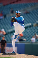 Buffalo Bisons relief pitcher Jordan Romano (23) during an International League game against the Lehigh Valley IronPigs on June 9, 2019 at Sahlen Field in Buffalo, New York.  Lehigh Valley defeated Buffalo 7-6 in 11 innings.  (Mike Janes/Four Seam Images)