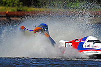 Frame 3: #42 rides up and over the roostertail of leader R.J. West, (#93) during the final heat.   (SST-45 class)