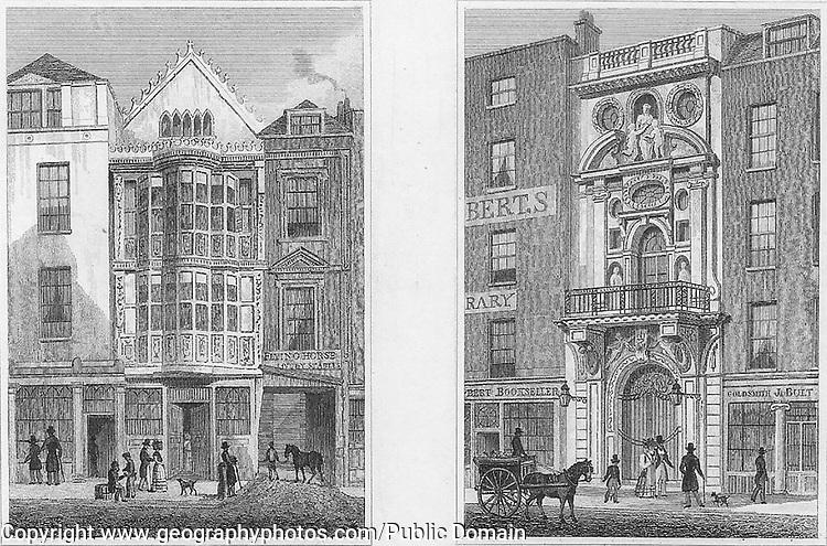 Sir Paul Pindar's House, Bishopsgate Street, Mercer's Hall, Cheapside, engraving 'Metropolitan Improvements, or London in the Nineteenth Century' London, England, UK 1828 , drawn by Thomas H Shepherd