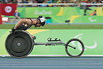 RIO DE JANEIRO - 14/9/2016:  Alexandre Dupont competes in the Men's 800m - T54 Heat at the Olympic Stadium during the Rio 2016 Paralympic Games in Rio de Janeiro, Brazil. (Photo by Matthew Murnaghan/Canadian Paralympic Committee