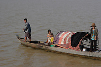 Mekong River<br /> , Cambodia - 2007 File Photo -<br /> <br /> <br /> fishing village people.    <br /> <br /> <br /> <br /> photo : James Wong-  Images Distribution