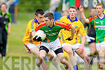 Nigel O'Connor Feale Rangers in action against Ger Hartnett Mid Kerry in the First Round of the Kerry Senior Football Championship at O'Rahilly Park Ballylongford on Sunday.
