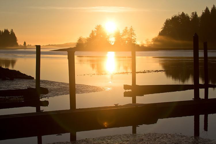 Willapa Bay National Wildlife Refuge, Long Island, Long Island Slough, sunset, wilderness preservation, Washington State, conservation, land preservation,
