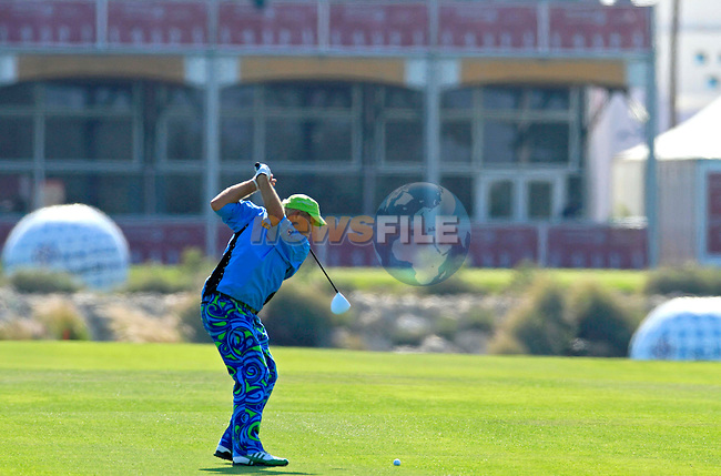 John Daly (USA) in action during the second round of .the Commercialbank Qatar Masters presented by Dolphin Energy played at Doha Golf Club, Doha, Qatar on 4th February 2011..Picture: Phil Inglis / www.golffile.ie.