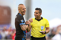 San Jose, CA - Saturday March 31, 2018: Magnus Eriksson, referee during a Major League Soccer (MLS) match between the San Jose Earthquakes and New York City FC at Avaya Stadium.