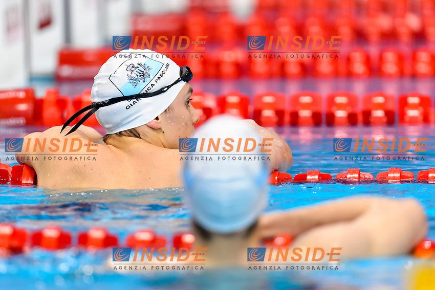 Cristian SANTI, Gianluca PASOLINI SMR <br /> 200m Freestyle Men Preliminary <br /> London, Queen Elizabeth II Olympic Park Pool <br /> LEN 2016 European Aquatics Elite Championships <br /> Swimming<br /> Day 09 17-05-2016<br /> Photo Andrea Staccioli/Deepbluemedia/Insidefoto