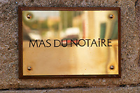 brass sign mas du notaire rhone france
