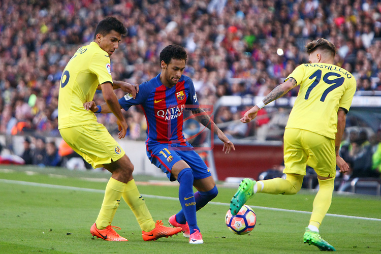 League Santander 2016/2017. Game: 36.<br /> FC Barcelona vs Villarreal CF: 4-1.<br /> Rodrigo, Neymar Jr &amp; Samu Castillejo.
