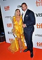 "07 September 2019 - Toronto, Ontario Canada - Jennifer Lopez, Alex Rodriguez. 2019 Toronto International Film Festival - ""Hustlers"" Premiere held at Roy Thomson Hall. <br /> CAP/ADM/BPC<br /> ©BPC/ADM/Capital Pictures"
