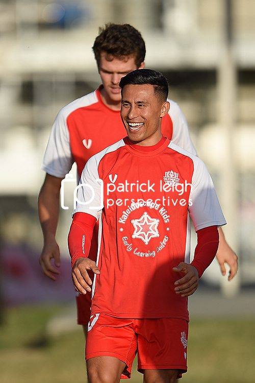 BRISBANE, AUSTRALIA - MARCH 3:  during the NPL Queensland Senior Mens Round 5 match between Olympic FC and Redlands United at Goodwin Park on March 3, 2019 in Brisbane, Australia. (Photo by Patrick Kearney)