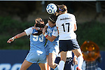 02 December 2012: Penn State's Whitney Church (17) defends against UNC's Brooke Elby (93) and Paige Nielsen (24). The University of North Carolina Tar Heels played the Penn State University Nittany Lions at Torero Stadium in San Diego, California in the 2012 NCAA Division I Women's Soccer College Cup championship game. UNC won the game 4-1.