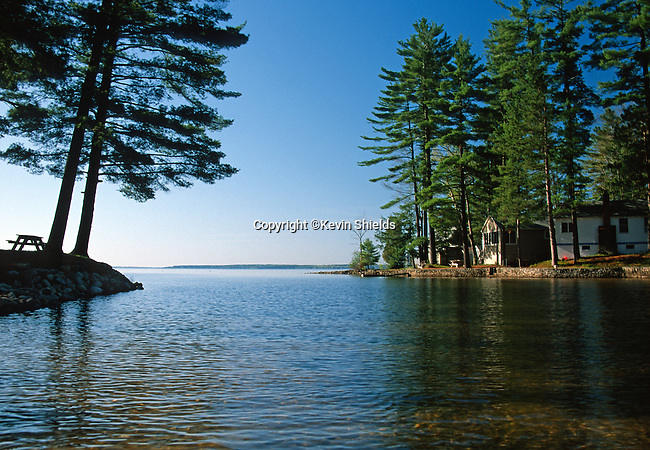 View of Sebago Lake, Sebago, Maine, USA