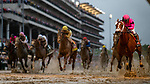 LOUISVILLE, KENTUCKY - MAY 04:  Maximum Security with Luis Saez crosses the wire first but is later disqualified in the Kentucky Derby at Churchill Downs in Louisville, Kentucky on May 04, 2019. Country House with Flavien Prat (yellow) is promoted to the winnerEvers/Eclipse Sportswire/CSM