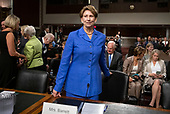 Barbara M. Barrett arrives to give testimony on her nomination to be Secretary of the Air Force before the United States Senate Committee on Armed Services on Capitol Hill in Washington, DC on Thursday, September 12, 2019.<br /> Credit: Ron Sachs / CNP