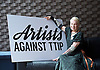 Artists Against TTIP <br /> The Transatlantic Trade &amp; Investment Partnership (TTIP) - a growing group of performers musicians designers directors who are raising awareness of the threats posed by TTIP. <br /> at the Young Vic Theatre London Great Britain <br /> 2nd July 2015 <br /> <br /> <br /> Dame Vivienne Westwood <br /> <br /> <br /> <br /> <br /> Photograph by Elliott Franks <br /> Image licensed to Elliott Franks Photography Services