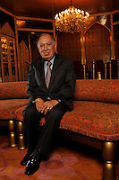 Dr Hari Harilela, 87, poses in the Mogal room of their Kowloon Tong residence in Hong Kong 18th October 2009. Hari is the director of the Harilela group.  The Harilela's are one of Hong Kong'sand Asia's best known and and most successful family businesses.<br /> <br /> Photo by Richard Jones