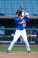Pitcher Kirkland McCarty (21) of Oak Grove High School in Hattlesburg, Mississippi playing for the New York Mets scout team during the East Coast Pro Showcase on August 1, 2013 at NBT Bank Stadium in Syracuse, New York.  (Mike Janes/Four Seam Images)