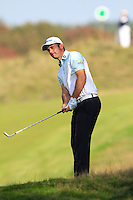 Ricardo Santos (POL) on the 9th during Round 2 of the KLM Open at Kennemer Golf &amp; Country Club on Friday 12th September 2014.<br /> Picture:  Thos Caffrey / www.golffile