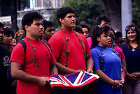 "observance of 100th anniversary of overthrow of the Hawaiian monarchy/""Onipa'a;"" Iolani Palace, Honolulu, Hawaii.1-17-93"