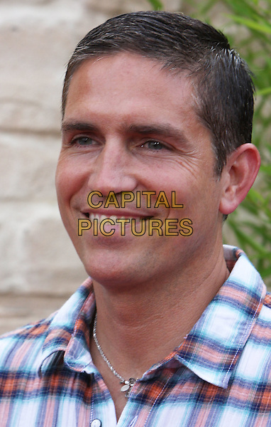 "JIM CAVIEZEL.""The Karate Kid"" Los Angeles Premiere held at Mann's Village Theatre, Westwood, California, USA, .7th June 2010. .headshot portrait james red plaid checked check .CAP/ADM/CH.©Charles Harris/AdMedia/Capital Pictures"
