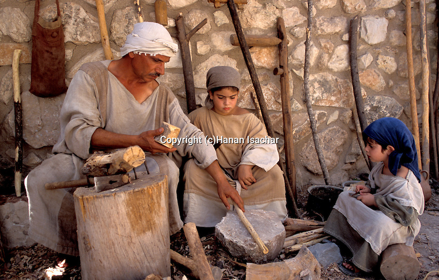 Israel, Galilee, Nazareth Village, recreating Nazareth in the time of Jesus, Carpentry work