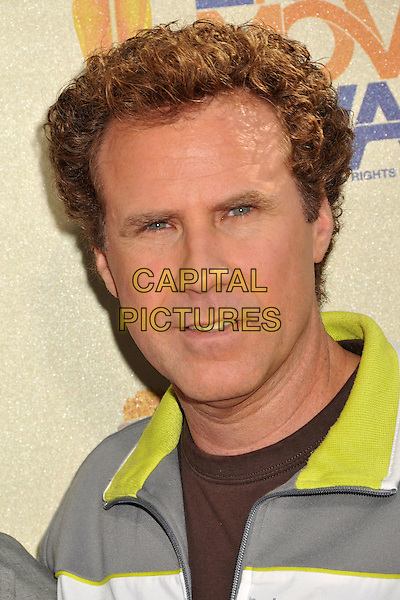 WILL FERRELL.18th Annual MTV Movie Awards - Arrivals held at the Universal Gibson Amphitheater, Universal City, CA, USA..May 31st, 2009.headshot portrait green collar grey gray .CAP/ADM/BP.©Byron Purvis/AdMedia/Capital Pictures.