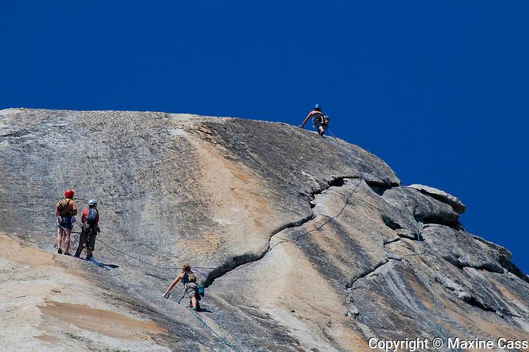Rock climbing west of Tenaya Lake above Highway 120 (Tioga Pass Road), Yosemite National Park, California, United States of America