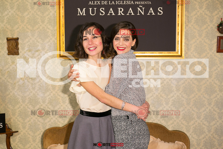 "Nadia Santiago and Macarena Gomez attend the presentation of the movie ""Musaranas"" in Madrid, Spain. December 17, 2014. (ALTERPHOTOS/Carlos Dafonte) /NortePhoto /NortePhoto.com"
