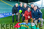 Tralee business community Welcomes the announcement of two Saturday night games for Tralee during Kerry's national league campaign Pictured were an Liam Lynch and Aidan O'Connor (Austin Stacks), John Drummey (Tralee Chamber Alliance), Paudie Dineen, Peter Twiss and Tony O'Keeffe (Kerry County Board)