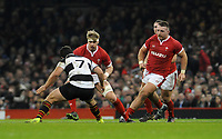 Wales Aaron Wainwright takes on Barbarians Marco Van Staden<br /> <br /> Photographer Ian Cook/CameraSport<br /> <br /> 2019 Autumn Internationals - Wales v Barbarians - Saturday 30th November 2019 - Principality Stadium - Cardifff<br /> <br /> World Copyright © 2019 CameraSport. All rights reserved. 43 Linden Ave. Countesthorpe. Leicester. England. LE8 5PG - Tel: +44 (0) 116 277 4147 - admin@camerasport.com - www.camerasport.com