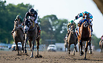 July 18, 2020: Authentic #2, ridden Mike Smith, outlasts a hard charging NY Traffic #7, ridden by Paco Lopez, to win the Haskell Invitational by a nose on Haskell Invitational Day at Monmouth Park Racecourse in Oceanport, New Jersey. Scott Serio/Eclipse Sportswire/CSM