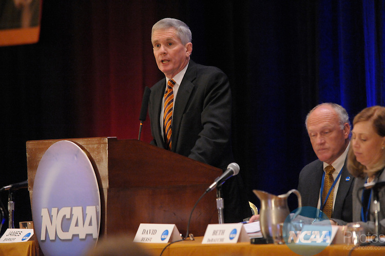 12 JAN 2008:  Staff and delegates participated in the Division I Legislative Forum at the 2008 NCAA Convention held at the Gaylord Palms Opryland Resort and Convention Center in Nashville, TN. Stephen Nowland/NCAA Photos.Pictured: James Barker - Clemson University...