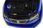 Car stock 2018 Seat Leon Xcellence 5 Door Hatchback engine high angle detail view