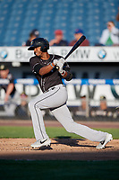 Charlotte Knights Alcides Escobar (2) at bat during an International League game against the Syracuse Mets on June 11, 2019 at NBT Bank Stadium in Syracuse, New York.  Syracuse defeated Charlotte 15-8.  (Mike Janes/Four Seam Images)