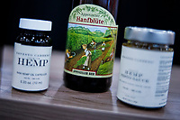 NEW YORK, NY - JUNE 25: CBD beer is seen at a stand during the Summer Fancy Food Show at the Javits Center in the borough of Manhattan on June 23, 2019 in New York, The Summer Fancy Food Show is the largest and biggest specialty food industry event in the continent (Photo by Eduardo MunozAlvarezVIEWpress/Corbis via Getty Image