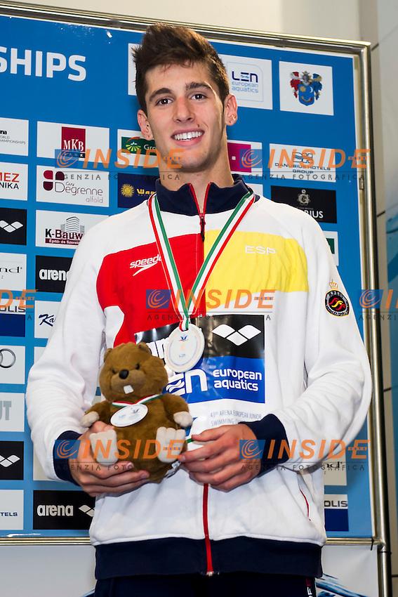 Lozano Mateos Alberto ESP<br /> 100 Butterfly Men Final Bronze Medal<br /> LEN 43rd Arena European Junior Swimming Championships<br /> Hodmezovasarhely, Hungary <br /> Day05 10-07-2016<br /> Photo Andrea Masini/Deepbluemedia/Insidefoto